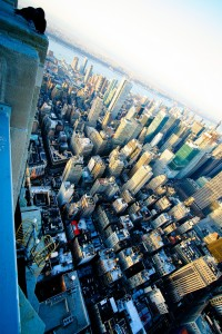 new york at an angle